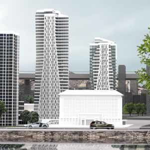 """Since the Beibin lou site faces onto one of Chongqing's two rivers, the new buildings are likely to become city landmarks. Two towers of 100m and 200m in height situated just behind the city government offices. High density in a small space. We cut the buildings into """"slices"""" and then put them back together again to avoid the """"mass"""" effect. Our idea was that by adding one slice to another, we could offer good views, sunlight and fresh air to everybody. Piecing the various sections together conjured up the idea of a robot, whose shape is typically studied to be as close as possible to function. In Beibin lou, we followed the same principle, all the time bearing in mind that Chongqing is the world capital of robotics."""
